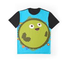Happy Green Planet Graphic T-Shirt