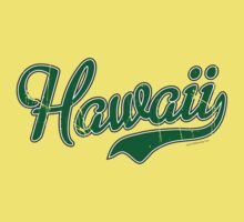Hawaii Script VINTAGE Green by carolinaswagger