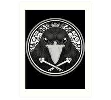 Storm Crow ! Art Print