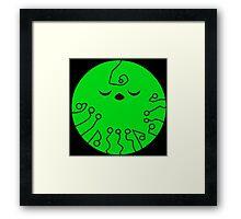 Green Tech Planet Framed Print
