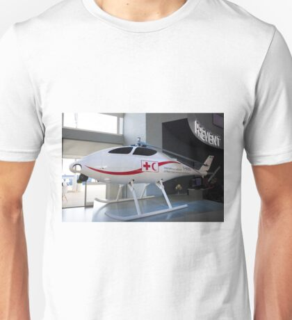Model on show in the leonardo stand at the Futures Day & FAB Friday at Farnborough International Airshow  Unisex T-Shirt