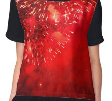 RED BLAST Chiffon Top