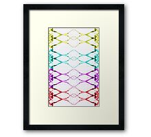 Splash colorful toffee loaded Ribbon look Framed Print