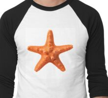 Orange starfish Men's Baseball ¾ T-Shirt
