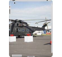 Agusta-Westland HH-101 helicopter on show at the Futures Day & FAB Friday at Farnborough International Airshow iPad Case/Skin