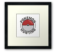 Pokemon Hunting Framed Print
