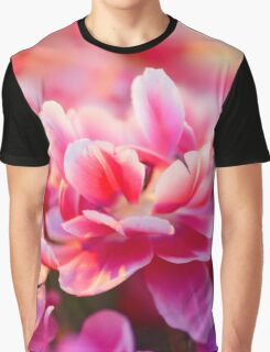 Fresh pink white red tulips Graphic T-Shirt