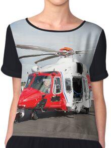 Coastguard rescue helicopter  Chiffon Top