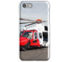 Coastguard rescue helicopter  iPhone Case/Skin
