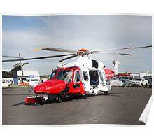 Coastguard rescue helicopter  Poster