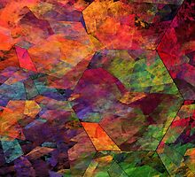 Colorful Psychedelic Abstract Fractal Art by KWJphotoart