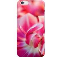 Fresh pink white red tulips iPhone Case/Skin