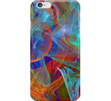 Colorful Computer Generated Abstract Fractal Flame iPhone Case/Skin