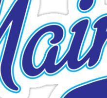 Maine Script Blue Sticker
