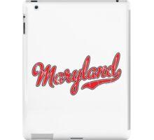 Maryland Script VINTAGE Red iPad Case/Skin