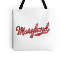 Maryland Script VINTAGE Red Tote Bag