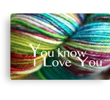 Love Yarn Canvas Print
