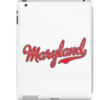 Maryland Script Red iPad Case/Skin