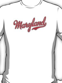 Maryland Script Red T-Shirt