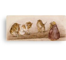 Guinea Pig workers by Beatrix Potter Canvas Print