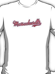 Massachusetts Script Red T-Shirt