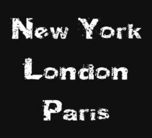 New York - London - Paris T-Shirt Kids Tee
