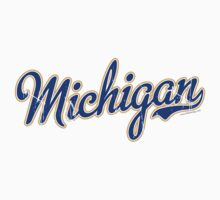 Michigan Script VINTAGE Blue by Carolina Swagger