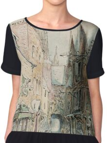 Beatrix Potter old English Street Illustration Chiffon Top