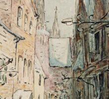 Beatrix Potter old English Street Illustration Sticker