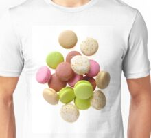 Heap of multicolored macarons Unisex T-Shirt