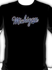 Michigan Script Blue T-Shirt