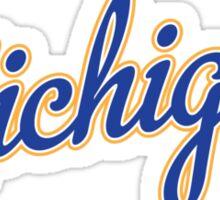 Michigan Script Blue Sticker