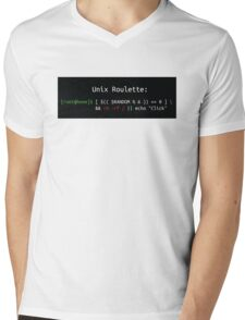 Unix Roulette Mens V-Neck T-Shirt