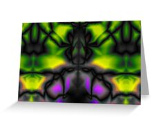 Psychedelic pattern.  Greeting Card