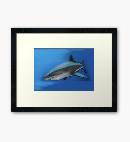 Great White Awesome Framed Print
