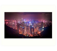 Hong Kong from top of mt Victoria Art Print