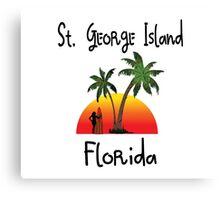St. George Island Florida. Canvas Print