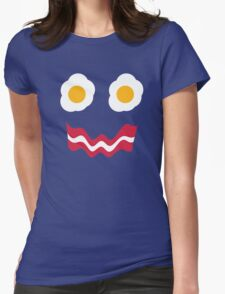 Eggs and Bacon Face Womens Fitted T-Shirt