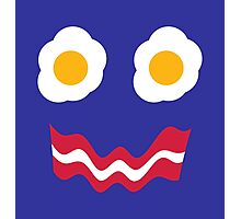Eggs and Bacon Face Photographic Print