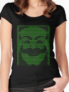 Mr Robot fsociety Mask in Code (as seen in Social Engineers Toolkit) Women's Fitted Scoop T-Shirt