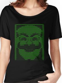Mr Robot fsociety Mask in Code (as seen in Social Engineers Toolkit) Women's Relaxed Fit T-Shirt