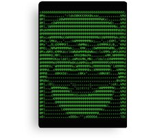 Mr Robot fsociety Mask in Code (as seen in Social Engineers Toolkit) Canvas Print