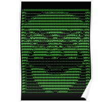 Mr Robot fsociety Mask in Code (as seen in Social Engineers Toolkit) Poster
