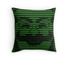 Mr Robot fsociety Mask in Code (as seen in Social Engineers Toolkit) Throw Pillow