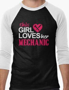 THIS GIRL LOVES HER MECHANIC Men's Baseball ¾ T-Shirt