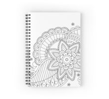 Traditional Paisley Pattern Spiral Notebook