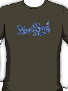 New York Script VINTAGE Blue T-Shirt