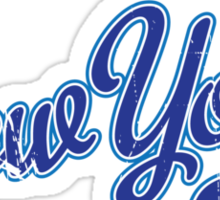 New York Script VINTAGE Blue Sticker