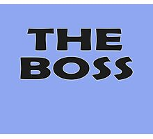 Who's The Boss - Cute Baby Onesie Jumpsuit Child Clothing Photographic Print