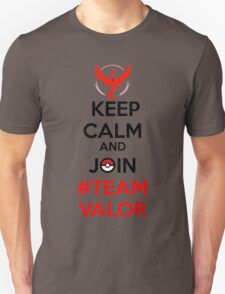 Keep Calm And Join Team Valor Unisex T-Shirt